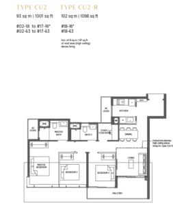 parc-esta-3-plus-study-floor-plan-cu2-singapore