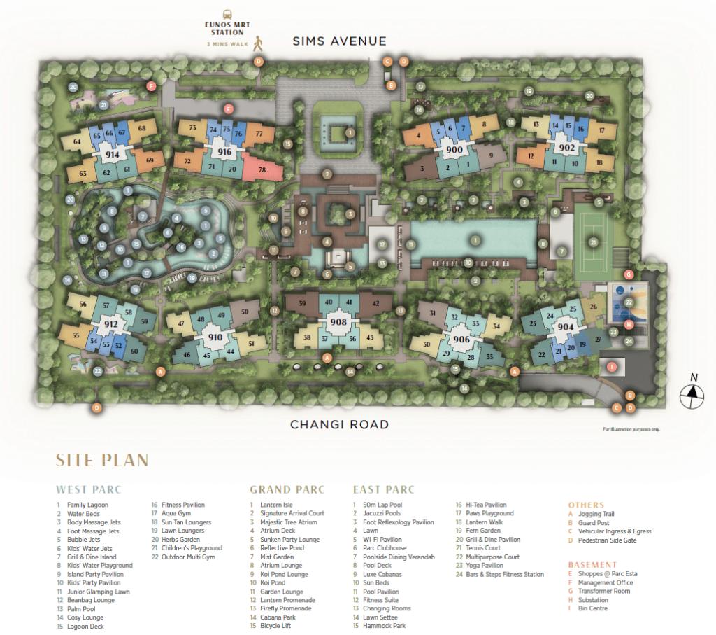 parc-esta-site-plan-singapore